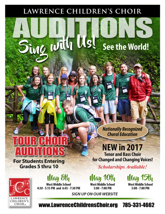 05/08/17 Open Auditions for Tour Choir @ West Middle School